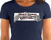 Ladies | The Army of Labor Against Capital | Edwardian Socialism T-Shirt