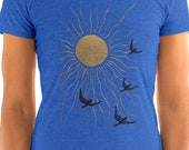 Ladies | Land of the Midnight Sun | Sun & Birds | T-Shirt