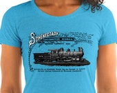 Train T-Shirt: Schenectady Locomotive Works | Victorian Vintage Advertising | Railroad Ladies Shirt