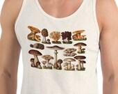 Tank | Edible Fungi & Mushrooms | Edwardian Botanical Unisex Tank Top