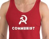 Tank | Communist Tank Top | Hammer and Sickle, Communism Proletarian Leftist Anti-Capitalist Pro-Worker