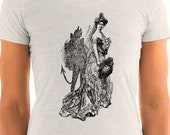 Ladies | Shady Lady | Devil is in the Details | Antique Illustration T-Shirt