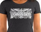 Socialist T-Shirt: The Socialist League | Agitate, Educate, Organize! Socialist Gift, Ladies Walter Crane Socialism Shirt, Leftist
