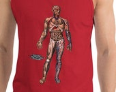 Anatomy Tank Top: Viscera in Position | Victorian Illustration Anatomical Unisex Shirt, Medical Gift