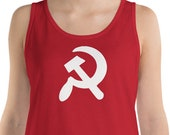 Tank | Hammer and Sickle Tank Top | Communist, Communism Proletarian Leftist Anti-Capitalist Pro-Worker