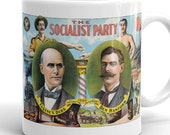 Mug | Edwardian Socialism | 1904 Socialist Party Illustration | Eugene V. Debs, Ben Hanford, Retro Socialism