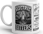 Electric Bitters Mug | Victorian Medical Advertising | Patent Medicine