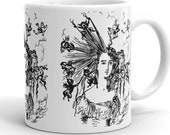"Mug | Edwardian ""Arranging the Hair"" Illustration 
