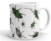 Mug | American Insects | Beetles | Victorian Entomology