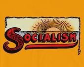 Socialist T-Shirt: Socialism Sunrise | Retro Unisex Shirt, Leftist, Anti-Capitalist, Progressive, Socialist Gift