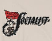 Socialist T-Shirt: Socialist Flag | Retro Leftist Shirt, Unisex, Pro-Labor, Anti-Capitalist, Equal Opportunity, Socialist Gift, Socialism