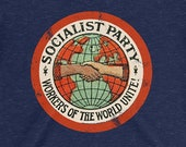 Ladies | Socialist Party T-Shirt | Workers of the World Unite | Retro Edwardian Socialism