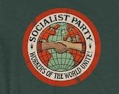 Socialist T-Shirt: Socialist Party | Workers of the World Unite | Retro Edwardian Socialism, Leftist Shirt, Socialist Gift