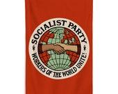Socialist Flag: Socialist Party   Workers of the World Unite   Retro Edwardian 5x3 foot Flag Socialism, Leftist, Pro-Worker