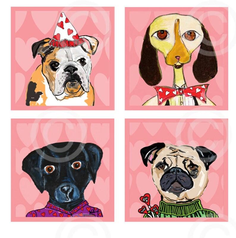 Bulldog Magnet Funny Dog Art Dog Gift Bottle Cap Dog Magnets Funny Dog Magnets Black Lab Pug Pink Dog Bottle Cap Magnets
