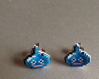 slimer - dragon quest stud earrings