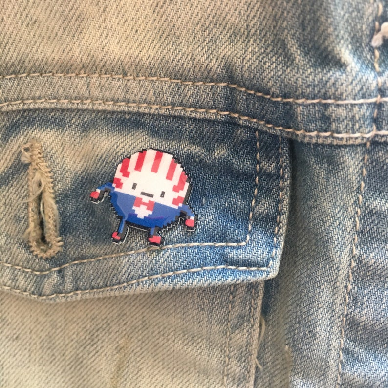 adventure time peppermint butler pin // Nintendo Hat Pin // image 0