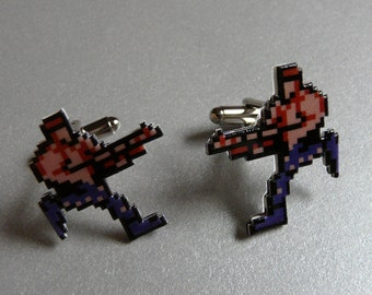 up up down down left right left right A B start - contra cufflinks