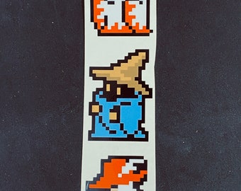 Final Fantasy  Mages Pixelated Sticker Pack  // Video Game Stickers // Geek Stickers // Car Decals // Kiss Cut Vinyl Stickers