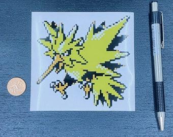 Zapdos Pokemon Sticker // Video Game Sticker // Super Nintendo Stickers // Car Decals // Kiss Cut Vinyl Stickers