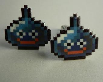 slime - dragon quest Cufflinks // Video Game Cufflinks // Geek Wedding Cufflinks // Gamer Wedding Cuff Links // Groomsmen Gift
