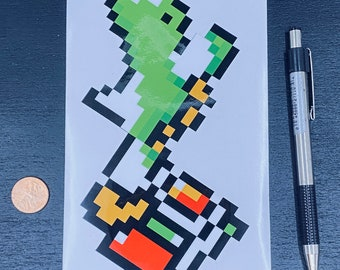 Yoshi Super Mario Sticker  // Video Game Sticker // Super Nintendo Stickers // Car Decals // Kiss Cut Vinyl Stickers
