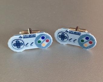 super nes controller Cufflinks // Video Game Cufflinks // Geek Wedding Cufflinks // Gamer Wedding Cuff Links // Groomsmen Gift