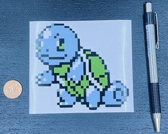 Squirtle Pokemon Sticker // Video Game Sticker // Super Nintendo Stickers // Car Decals // Kiss Cut Vinyl Stickers