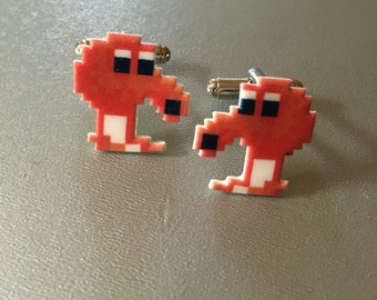 Qbert Cufflinks // Video Game Cufflinks // Geek Wedding Cufflinks // Gamer Wedding Cuff Links // Groomsmen Gift