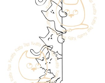 Digi Stamp Instant Download. Did someone say cream cake? - Knitty Kitty Digis No. 67