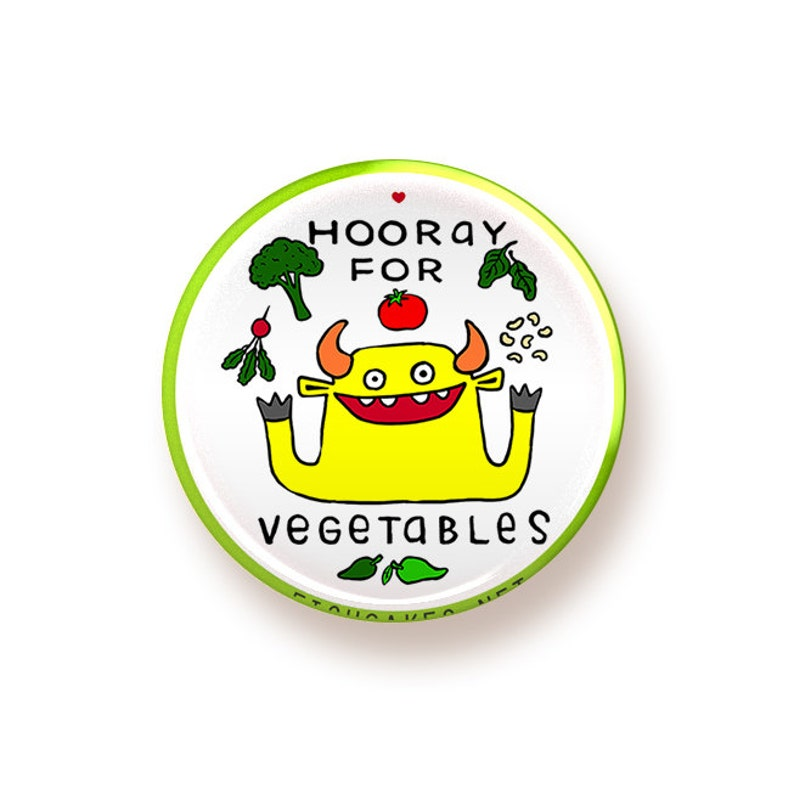 Hooray for Vegetables  button image 0