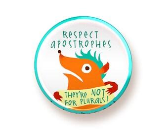 Respect Apostrophes - button