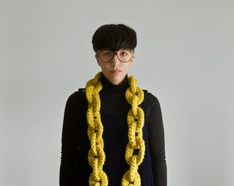 The Yokoo Bronx Dookie Chain Scarf (citron is discontinued.)