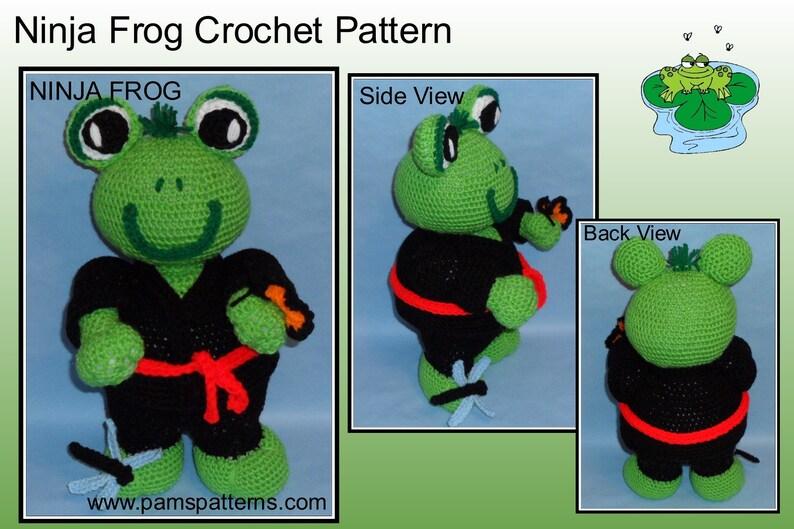 Ninja Frog Doll Crochet Pattern Crochet Frog Crochet Doll Etsy