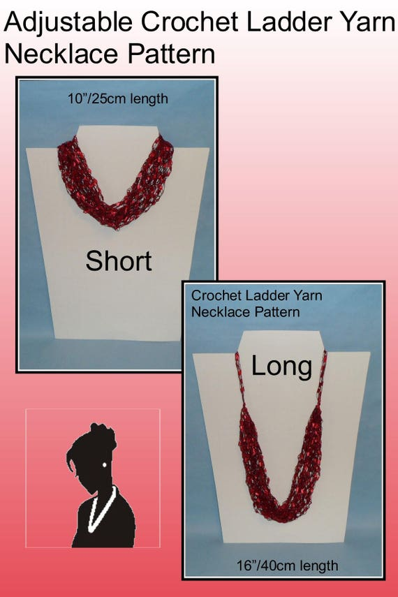 Pattern Crochet Ladder Yarn Necklace Crochet Necklace Etsy