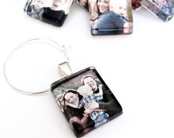 5 Sets of 8 Custom Image Wine Charm Party Favors - Scrabble Size