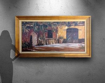 Guzman Aymara Painting, Original oil on canvas