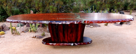 CUSTOM Curly Redwood Dining Or Conference Table Feet Long Etsy - 15 foot conference table