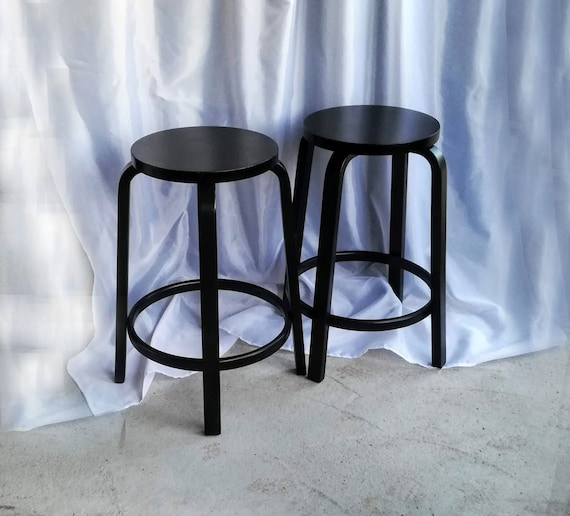 Cool Set Of 5 Artek Counter Stools By Alvar Aalto Barstool Chair Mid Century Modern Finland Scandinavian Ncnpc Chair Design For Home Ncnpcorg