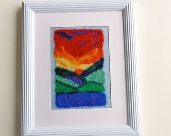 Felt Art PDF -  Painting with Wool - wet felting and needle felting technique for painters, artists advanced and beginers (Felt Painting 8)