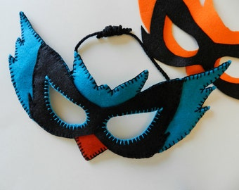 Blue Bird Felt Mask Patterns - PDF- for Halloween, costume parties, dress up and role playing -  Mardi Gras - Pagan Mask