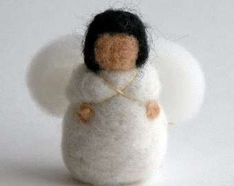 Needle felt pdf instructions - Felt Baby Angel - Tree Ornament