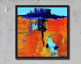 Modern Abstract, Oil Painting, Small Original, 6x6, Canvas, Textured, Wall Decor