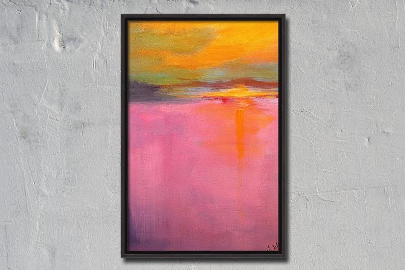 Semi Abstract Sunset Original Painting image 0