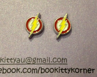 The Flash Logo Stud Earrings with Stainless Steel findings