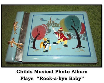 Photo Album IA#864 Band Rock Concert Guitar Camp Music Notes 4x6 or 5x7 Pictures Personalized Gift