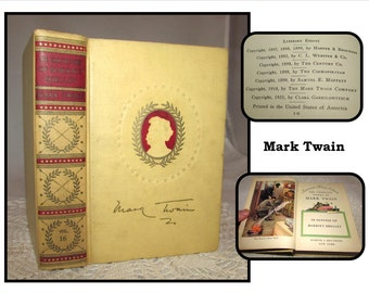 Mark Twain Essays  Etsy Vintage Volume  Hardcover Book Selected Essays By Mark Twain The  Defense Of Harriet Shelley   More