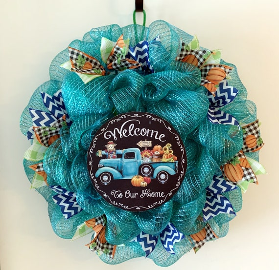 Welcome to Our Home Deco Mesh Wreath