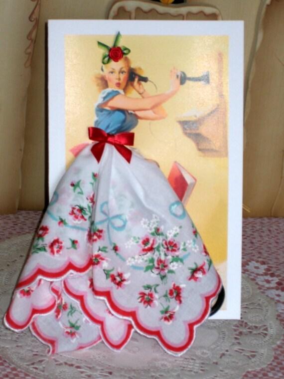 Telephone  Pinup Girl Keepsake  Card