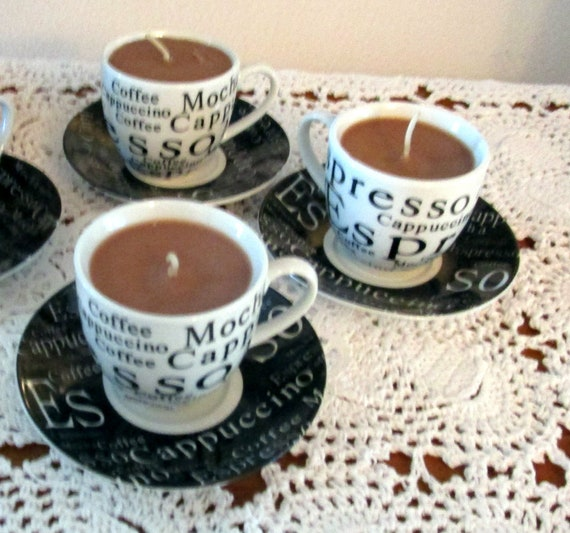 Demitasse Cup and Saucer Candle